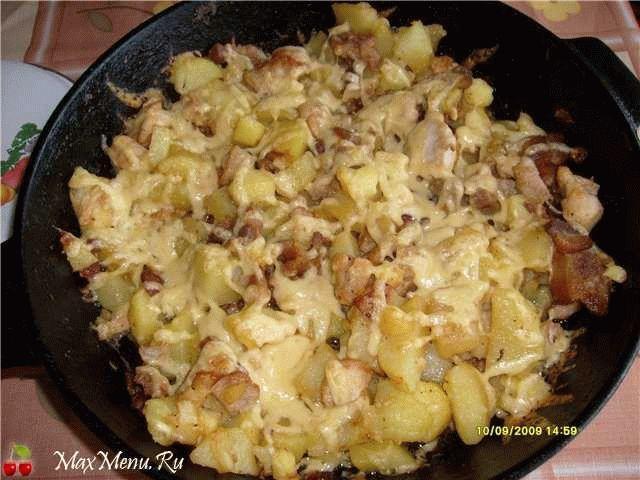 Картошечка с куриным мясом