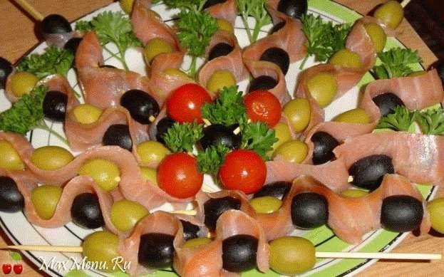 Рыбная закуска с оливками