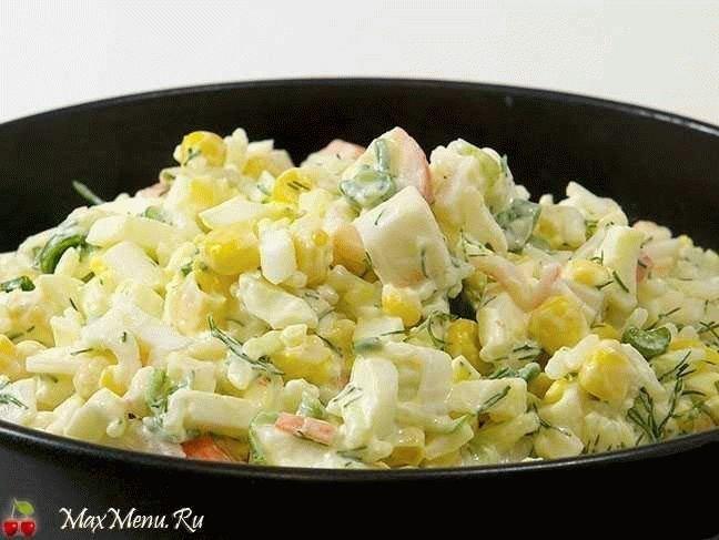 «Хитрый» салат из крабовых палочек