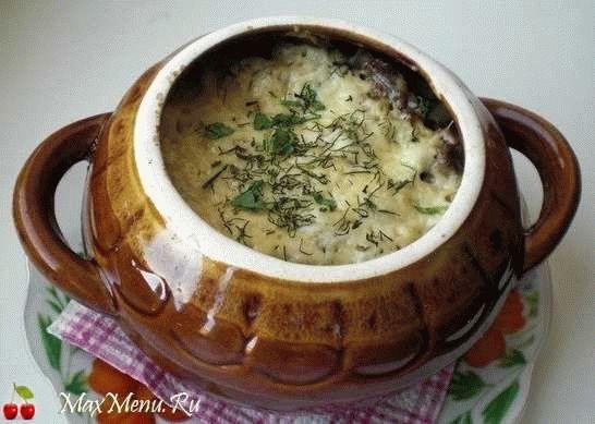 Картошка с фрикадельками и грибами