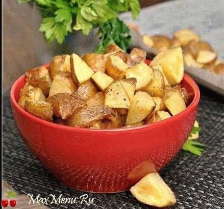 Запеченный картофель с уксусом