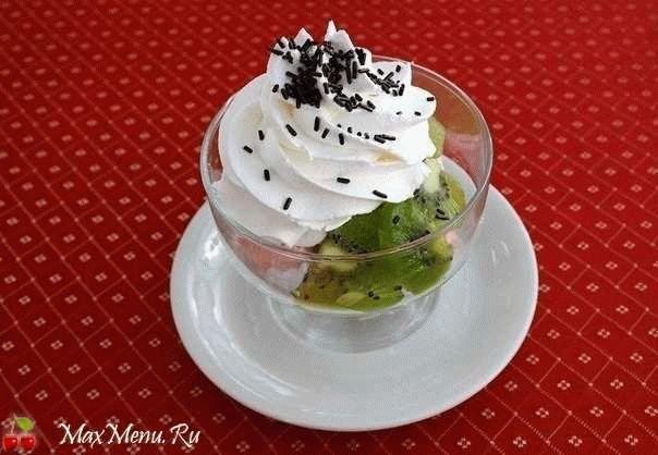 Десерт с зефиром и киви