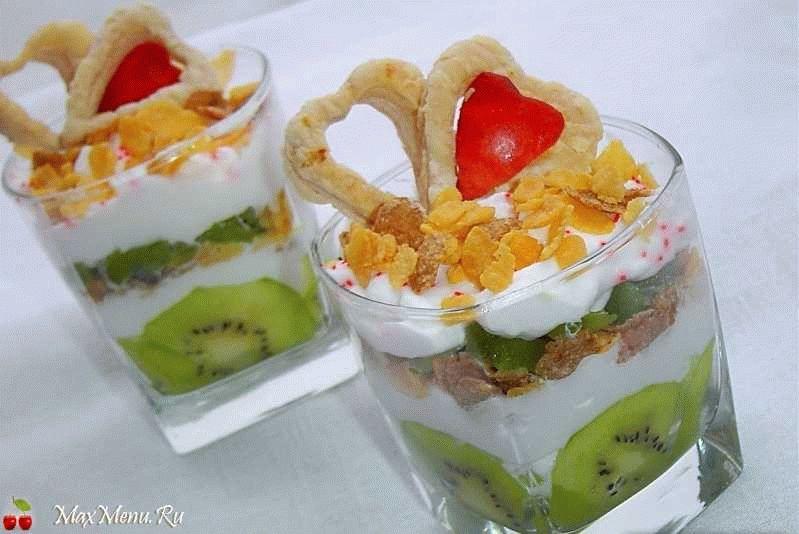 Фруктовый десерт «Сердечный»