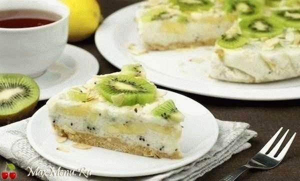 Низкокалорийный торт без выпечки