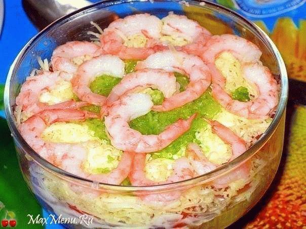 Салат из морепродуктов «Мореман»