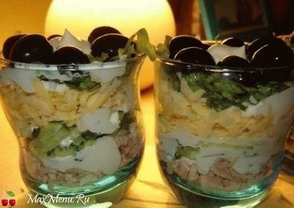 Салат-коктейль на двоих