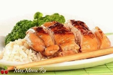 """Курица """"по-японски"""" с соевым соусом и медом"""