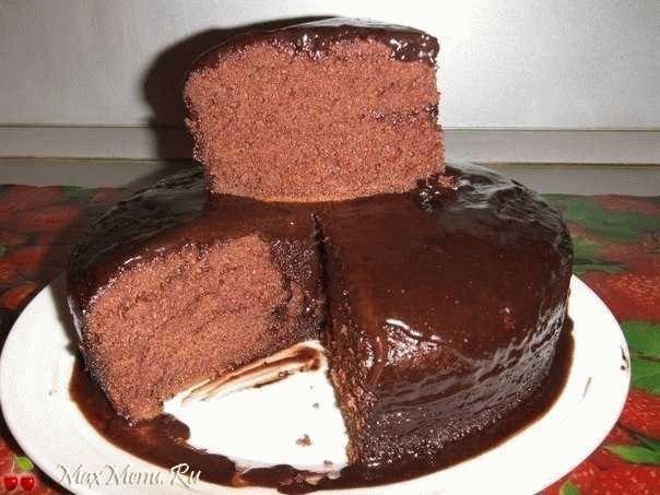 Шоколадное кухэ в мультиварке