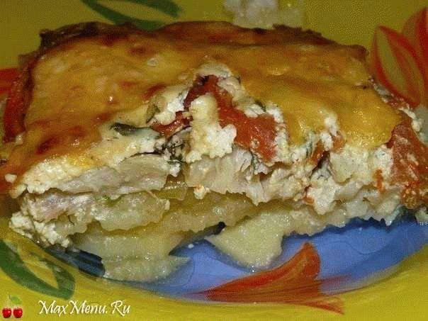 Обалденно вкусная картофельная запеканка с рыбой