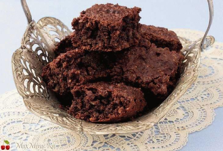 Шоколадно-овсяный пирог