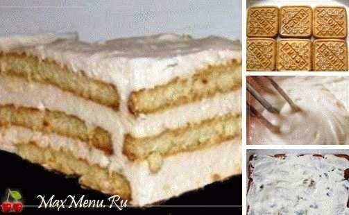 Вкуснейший торт из печенья