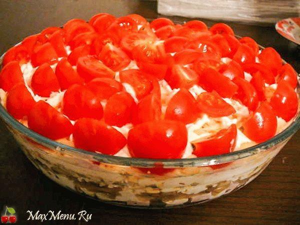 cloenyj-salat-s-gribami-krasnaya-shapochka