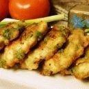 Куриные оладьи с горошком
