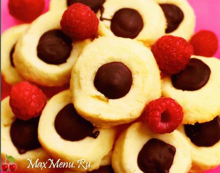 Лимонное печенье с шоколадом