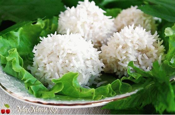 «Снежки» из курицы и риса