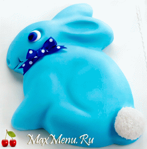 Торт из мастики «Кролик»
