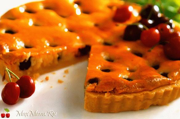 Вишневый пирог с франжипаном