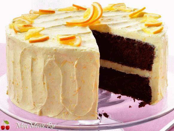 Апельсиново-шоколадный торт