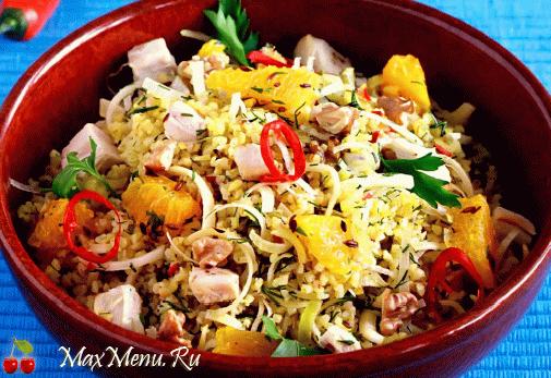 Салат из курицы с булгуром
