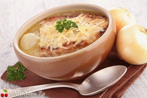 Луковый суп с гренками и сыром от французских поваров