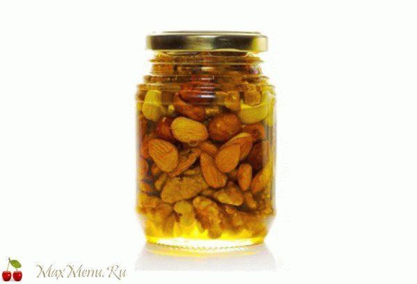 Рецепт с грецкими орехами: орехи в майском меду