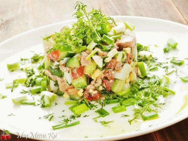 Рецепт нового вкусного салата из нежной печени трески и авокадо