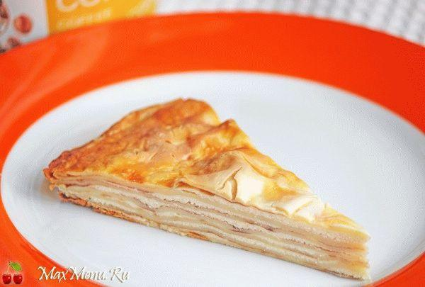 Вкусный блинный пирог с творогом