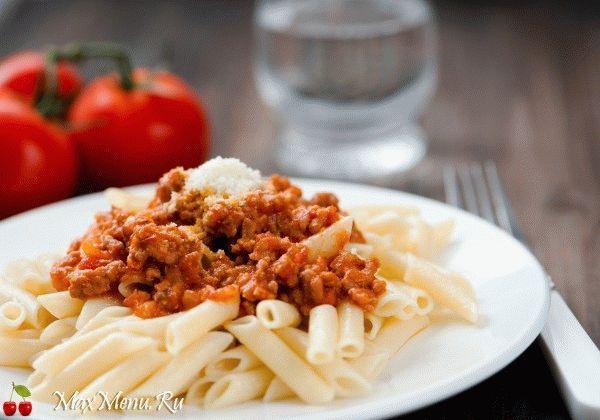 Рецепт макарон с мясным соусом