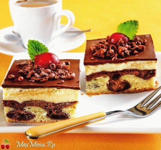 Рецепт торта «Вишневый аромат»