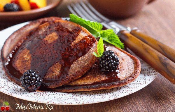Вкусные шоколадные оладьи на кефире