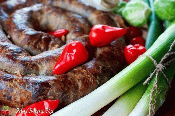 Домашняя колбаса с 3 сортами мяса