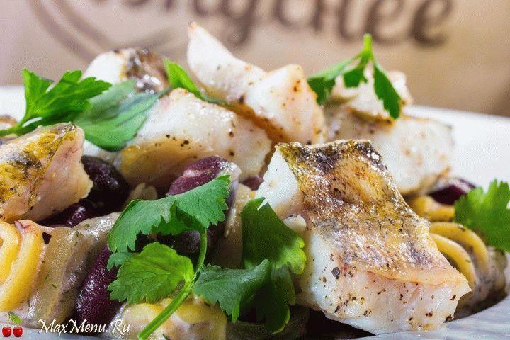 Рецепт судака под сливочным соусом