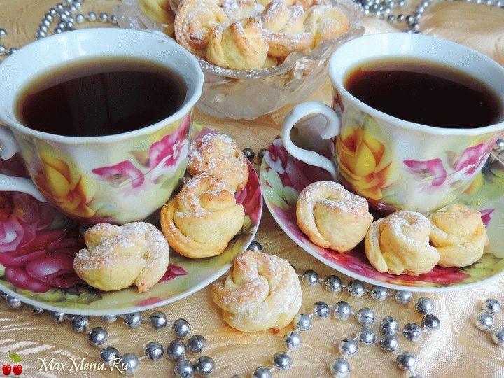 Рецепт творожного печенья «Чайная роза»