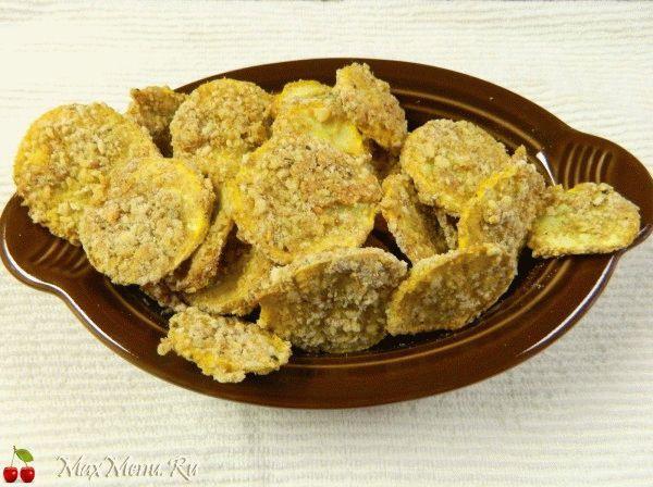 Рецепт жареных кабачков в сухарях
