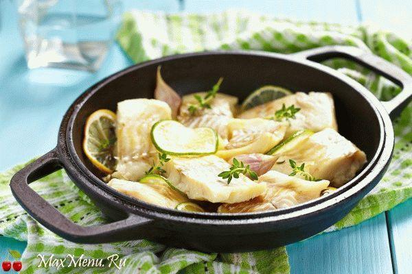 Рыба в сметано-лимонном соусе