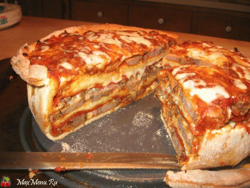 Многослойная пицца в мультиварке