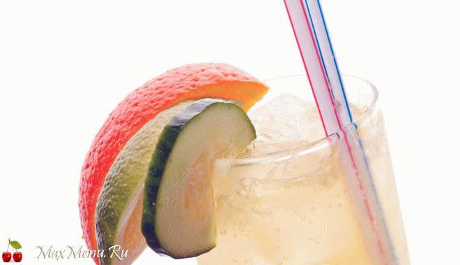Апельсиново-огуречный коктейль