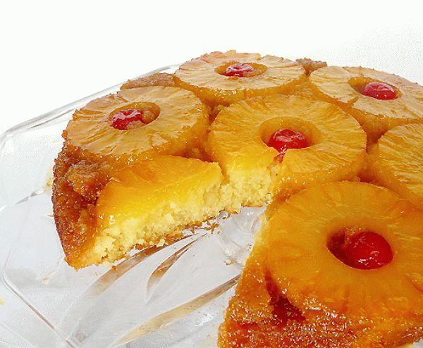 Перевернутый пирог с ананасами
