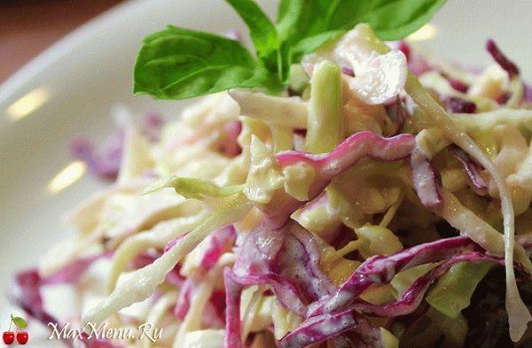 Простой салат из капусты