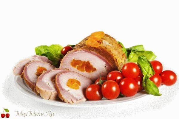 Запеченное мясо с курагой
