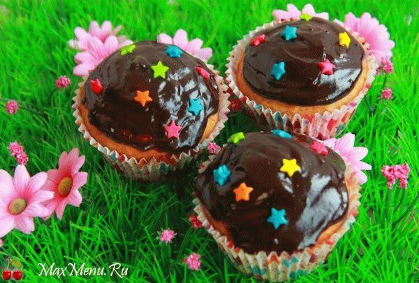 Банановые кексы в шоколаде