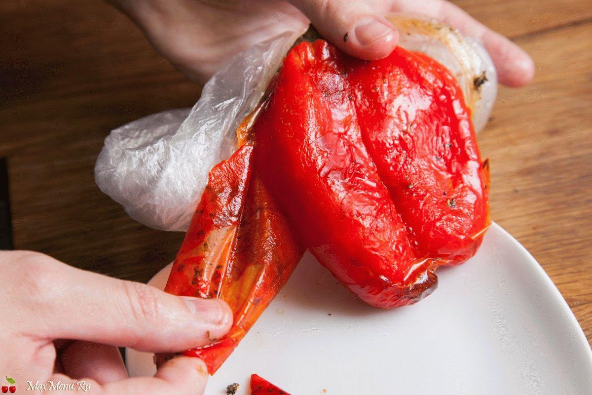 Как просто снять кожицу с перца