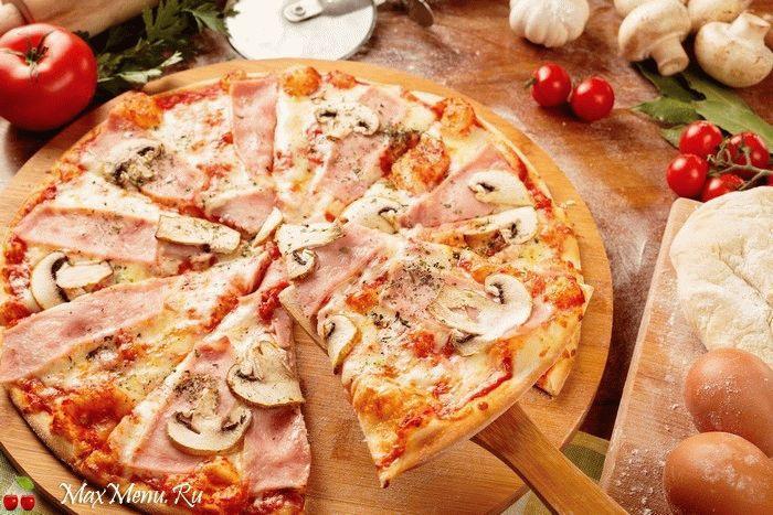 Тесто для тонкой пиццы на молоке