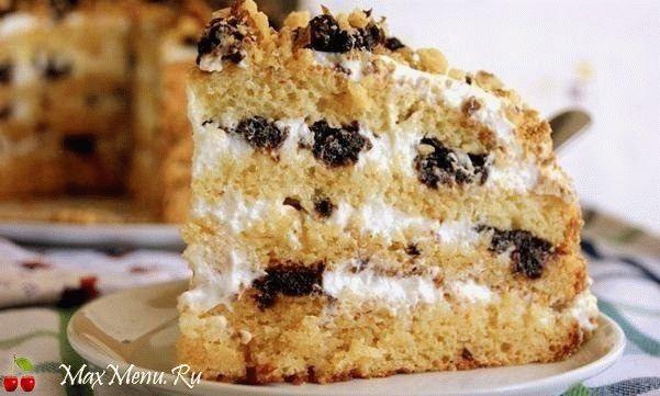 Торт «Сгущенка» с черносливом