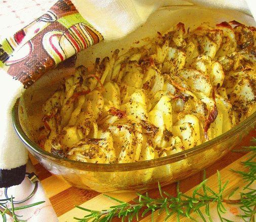 """Запеченный картофель с луком """"Криспи гратин"""""""