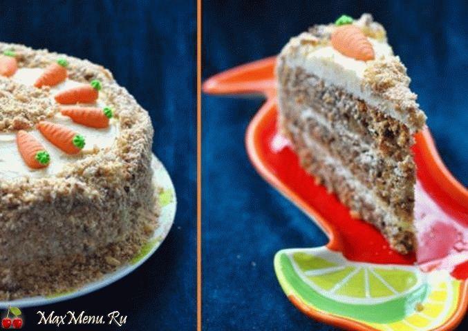 Английский морковный торт