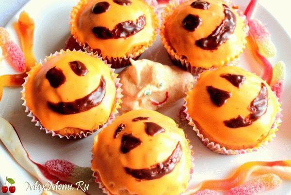 Апельсиновые кексы на Хэллоуин