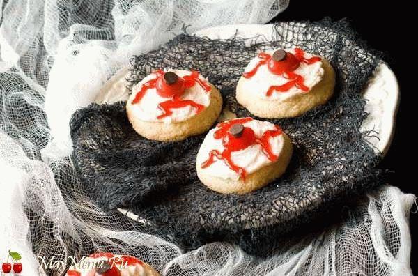 Пирожные на Хэллоуин: Глаза вампира