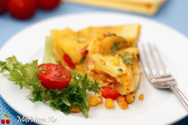 Испанская тортилья с овощами