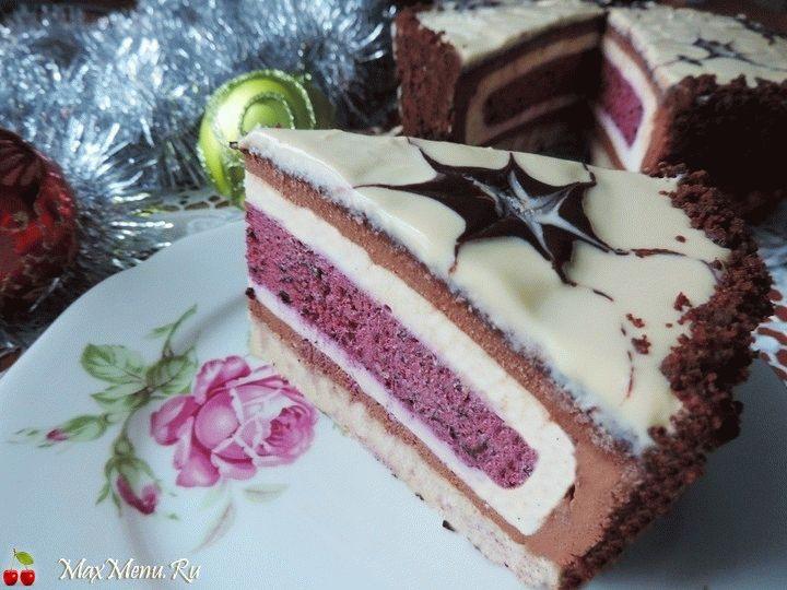 Новогодний торт-мусс